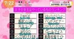 요즘 일본 여중생 관심사 TOP 10